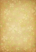 St. Patrick's Day,Clover,Backgrounds,Retro Revival,Old-fashioned,Four Leaf Clover,Paper,Clover Leaf Shape,Grunge,Scratched,Torn,Damaged,Crumpled,Copy Space,Brown Background,Stained,Textured,Brown,Run-Down,Dirty,Old,Ancient,Textured Effect,Parchment,Holiday,Spotted,Antique,National Holiday,Weathered