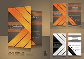 Brown,Gray,Orange Color,Beautiful,Elegance,Business,Collection,Set,Classical Style,Ribbon,Ilustration,Modern,Pattern,Business Card,Design,Vector,Creativity,Plan,Striped,Vertical