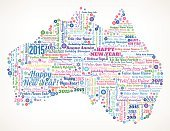 Australia,2015,New Year's Eve,Chinese New Year,New Year,New Year's Day,Typescript,Snowflake,Holiday,Japanese New Year,Global Communications,Multi Colored,Vector,Ilustration,Snow,Community,Cartography,Map,Celebration