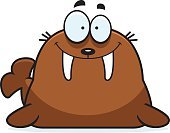 Tail,Ilustration,Tusk,Vector,Walrus,Happiness,Cheerful,Clip Art,Cartoon,Animal Fin,Computer Graphic,Smiling,Animal