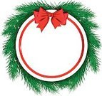 Label,Bow,Bow,Ribbon,Abstract,Sign,Silhouette,Frame,Symbol,Green Color,White,Holiday,Christmas,Celebration,Christmas Decoration,Christmas Ornament,Red,Circle,Branch,Blank