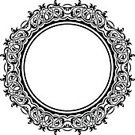 Floral Pattern,Design Element,Pattern,Vector,Empty,Circle,Decoration,Abstract,Black Color,Frame,Ornate