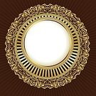 Ornate,Pattern,Classical Style,Circle,Retro Revival,Design,Frame,Decoration,Vector,Floral Pattern,Gold Colored