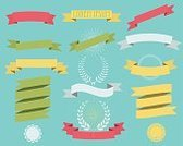 Ribbon,Certificate,Flat,Badge,Vector,Placard,Hipster
