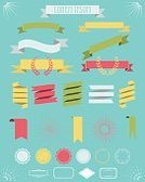 Ribbon,Hipster,Placard,Flat,Certificate,Vector,Badge