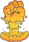 Mushroom Cloud,Hydrogen Bomb,Bomb,Punching,Atomic Bomb Testing,Exploding,Fist,Fighting,Battle,War,Conflict,Bombing,Vector Cartoons,Illustrations And Vector Art,Concepts And Ideas,Atomic War