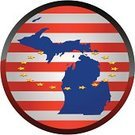 Michigan,Map,state,Symbol,Outline,USA,vector illustration,Striped,Illustrations And Vector Art,Patriotism,Computer Icon,Star Shape,Circle