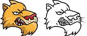 Animal Themes,Mascot,Vector,Black And White,Animal,Fang,Aggression,Animal Teeth,Tiger,Leopard,Confrontation,Mammal,Feline,Wildcat,Wildlife,Undomesticated Cat,Sport,Mountain Lion,Animal Head,Animals In The Wild,Snarling,Big Cat,Lynx,Forest