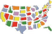 Map,USA,state,New,Illustrations And Vector Art