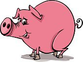 Pig,Happiness,Cheerful,Humor,Characters,Fun,Drawing - Art Product,Hoof,Smiling,Clip Art,Vector,Sketch,Piglet,Pink Color,Tail,Farm,Animal,Ilustration,Cartoon,Livestock
