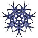 Geometric Shape,Abstract,Computer Graphic,Ornate,Snowflake,Spirituality,Nature,Symbol,Ilustration,Vector,Indigenous Culture,Blue,Backgrounds,Circle,Decoration,Pattern
