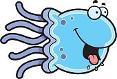 Jellyfish,Ilustration,salivating,Smiling,Vector,Animal Tongue,Hungry,Happiness,Clip Art,Cartoon,Animal Saliva,Computer Graphic,Cheerful,Animal