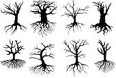 Dead Plant,Root,Tree,Silhouette,Dead,Tree Trunk,Death,Outdoors,Ideas,Autumn,Black Color,Isolated,Part Of,Ilustration,Symbol,Vector,Dry,Wood - Material,Nature,Concepts,Abstract,Plant,Environment,Bare Tree,Woodland