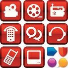 Video,Religious Icon,Symbol,Computer Icon,Mobile Phone,Icon Set,Red,Film,Discussion,Silhouette,Movie,Television Set,Entertainment,Sound,Sign,Telephone Receiver,Interface Icons,Push Button,Film Reel,The Media,Radio,Shape,Vector,Pay Phone,Film Industry,Shiny,White,Blue,Series,Design,Camera Film,Metallic,Communication,Global Communications,Purple,Geometric Shape,Ilustration,Electrical Equipment,Receiver,Illustrations And Vector Art,Orange Color,Vector Icons,Sparse,Yellow,Headphones,Simplicity