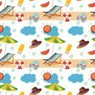 Beach,Season,Summer,List,Vacations,Blue,Vector,Life Belt,Hat,Heat - Temperature,Clip Art,Outline,Computer Graphic,Fashion,Flavored Ice,Backgrounds,template,Repetition,Continuity,Creativity,Pattern