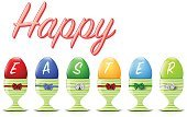 Ilustration,Red,Blue,Decoration,Abstract,Shiny,happy easter,Egg Holder,Multi Colored,Vector,Easter