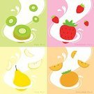 Vector,Food,Fruit,Strawberry,Tasting,Kiwi - Fruit,Yellow,Drink,Ilustration,Drinking,Vitamin Pill,Backgrounds,Pear,Art,Plant,Organic,Eating,White,Pink Color,Symbol,Design,Persimmon,Healthy Lifestyle,Milk,Wallpaper,Sweet Food,Green Color,Nature,Slice,Cute