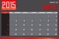 Calendar,May,Day,Time,Calendar Date,Month,Monthly,Number,2015