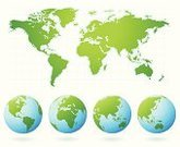 Globe - Man Made Object,World Map,Earth,Map,Planet - Space,Green Color,Vector,Sphere,Cartography,Europe,Environmental Conservation,Asia,Australia,Africa,Ilustration,continents,Digitally Generated Image,Computer Graphic,The Americas,Oceania,Illustrations And Vector Art