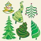 Computer Graphics,Humor,Nature,Christmas,Cultures,Tree,Winter,Greeting,Computer Graphic,Illustration,Celebration,No People,Vector,Collection