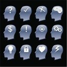 Human Brain,Human Head,Symbol,Heart Shape,Gear,Question Mark,Sign,Icon Set,Light Bulb,Lock,Creativity,Check Mark,Dollar Sign,Mechanic,incorrect,Team,correct,Lightning,Teamwork,Inspiration,Imagination,Equipment,Ideas,Thunderstorm,Mistake,Series,Medicine And Science,Communication,Illustrations And Vector Art,Vector Icons,Personnel,Concepts And Ideas