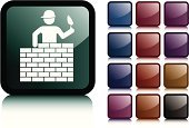 Bricklayer,Construction Industry,Stick Figure,Computer Icon,Information Symbol,Vector Icons,Construction,Industry,Dark,Black Color,Shiny,Illustrations And Vector Art