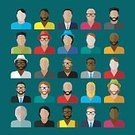 Human Face,Vector,Connection,Symbol,Fashion,Hairstyle,Occupation,Red,Mustache,Manager,Ethnicity,Mature Adult,Beard,People,Men,Hat