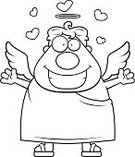 Love,Ilustration,Embracing,Men,One Person,Vector,Smiling,People,Heaven,Heart Shape,Clip Art,Cartoon,Angel,Computer Graphic,Halo,Happiness,Cheerful,Wing