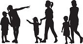 Silhouette,Child,Pointing,Family,Mother,People,Walking,Little Girls,Human Hand,Little Boys,Small,Son,Cheerful,Vector,Family with One Child,Outdoors,Happiness,Stepping,Family with Three Children,Ilustration,Clip Art,Families,Lifestyle,Babies And Children,Illustrations And Vector Art
