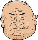 Anger,One Person,Avatar,Completely Bald,Caucasian Ethnicity,Large,Adult,Men,Stubble,Vector,Smirking,Mature Adult,Ilustration,Isolated,Overweight,Clenching Teeth,Disgust,Computer Icon,Male,Shock,Tantrum,Sneering,Furious,Human Face,Rudeness,Clip Art,Cut Out,Displeased,Facial Expression,Negative Emotion,White Background
