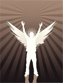 Angel,Praying,Silhouette,Teenager,Grunge,Adolescence,Love,Youth Culture,Zen-like,Meditating,Spirituality,Forgiveness,Blessing,Artificial Wing,Heaven,Death,Symbol,Vitality,Gratitude,The Way Forward,Modern Rock,Wing,Aura,Righteous,Illustrations And Vector Art,People,Beauty And Health,Speculative Being,Aspirations