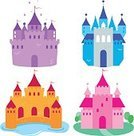 Castle,Fairy Tale,Palace,Tower,Collection,Tree,Cartoon,Medieval,Ilustration,Wall,stronghold,Gothic Style,Orange Color,Building Exterior,Built Structure,Set,Brick,Fort,Purple,Water,Vector,Fantasy,Star Shape,Isolated,Pink Color,Symbol,Nobility,Fairy,Blue,Church,kingdom,Magic,Beautiful,Cute,Group of Objects