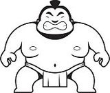 Strength,Muscular Build,Sumo Wrestling,Toughness,Wrestling,Vector,Sport,Japanese Ethnicity,Anger,Furious,Cartoon,Overweight,Japanese Culture,Ilustration,Displeased