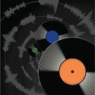 Sound Wave,Record,Disk,Sound Recording Equipment,Music,auditory,Recording Studio,Ilustration,Arts And Entertainment,Vector Backgrounds,Illustrations And Vector Art,Music,Sound,Volume,Vector,decibel
