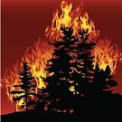 Forest Fire,Fire - Natural Phenomenon,Tree,Forest,Burning,Silhouette,Evergreen Tree,Landscape,Vector,Backgrounds,Inferno,Ilustration,Heat - Temperature,Landscapes,Vector Backgrounds,Plants,Illustrations And Vector Art,Backdrop,Nature