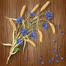 Flower,Pattern,Wheat,Vector,Bundle,Painted Image,Candid,Agriculture,Wildflower,Weed,Rustic,Wood - Material,Exploding,Nature,Season,Barley,Growth,Brown,Backgrounds,Cornflower,Leaf,Design Element,Summer,Tassel,Decoration,Organic,Textured Effect,Herb,Harvesting,Plant,Cereal Plant,Ilustration,Rural Scene,Bud,Mature Adult,Blue,Petal,Creativity,Decor,Botany,Bouquet