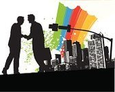 Partnership,Meeting,Business,Urban Scene,Silhouette,Handshake,People,Grunge,City,Rainbow,Cooperation,Greeting,Town,Street,Men,Ilustration,Communication,Agreement,Vector,Discussion,Success,Splattered,Businessman,Teamwork,Business,Vector Backgrounds,Communication,Illustrations And Vector Art,Business Meetings,Concepts And Ideas