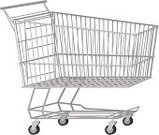 Shopping Cart,Shopping,Empty,Retail,Vector,Wheel,Ilustration,Clip Art,Metal,Isolated On White,No People,Isolated