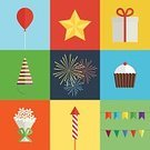 Pyrotechnics,Flat,Party - Social Event,Birthday,Celebration,Event,Balloon,Box - Container,Holiday,Set,Star Shape,Multi Colored,Petard,Anniversary,Decoration,Cookie,Food,Cake,Bouquet,Muffin,Banner,Bakery,Flag,Cream,Cupcake,Gift,Cap,Computer Icon,Dessert