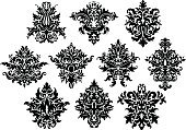 Floral Pattern,Design Element,Flower,Part Of,Retro Revival,Old-fashioned,Scroll Shape,Shape,Variation,Continuity,Brocade,Victorian Style,Old,Classic,Pattern,Abstract,Vector,Ornate,Baroque Style,Backgrounds,Silk,Ilustration,Design,Repetition,Silhouette,Rococo Style,Material,Backdrop,Symmetry,flourishes,Royalty,Computer Graphic,Tile,Revival,Style,Decoration,Textile,Antique,Swirl,Elegance