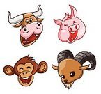 Vector,Mascot,Cute,Collection,Animal