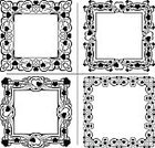 Vector,Retro Revival,Pattern,Floral Pattern,Old-fashioned,Heart Shape,Set,Love,Valentine's Day - Holiday,Empty,Design Element,Black Color,Abstract,Wedding,Blank,Frame,Ornate,Decoration,Decor,Collection
