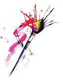 Creativity,Purple,Blue,Shape,Collection,Red,Ink,Multi Colored,Abstract