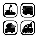 Freight Transportation,Land Vehicle,Mode of Transport,Transportation,Outline,Silhouette,Construction Industry,Icon Set,Focus on Shadow,Ilustration,Construction Machinery,Vector,Working,Crane - Construction Machinery,Picking Up,Machinery,Computer Graphic,Shadow,Black Color,Carrying,Occupation,Truck,Cement Mixer,Trucking,Computer Icon