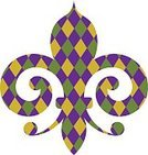 Mardi Gras,Fleur De Lys,Computer Icon,Symbol,Ilustration,Holiday,Flower,Design,Event,Traditional Festival,Isolated,Sign,Carnival,Traveling Carnival,Delaware,Lily,Pattern,Old-fashioned,Checked,Day of the Week