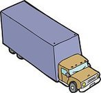 Truck,White Background,Land Vehicle,Isolated,Cartoon,Single Object,hand drawn,Vector,Semi-Truck,Clip Art,Aerial View,Cut Out,Ilustration,Moving Van,No People