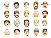 Men,Ilustration,Fashion,Backgrounds,Whisker,Styles,People,Goatee,Beard,Human Face,Collection,Mustache,Hairstyle