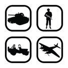 Computer Graphic,War,Silhouette,Conflict,Armored Tank,Power,Military,Armed Forces,Shadow,Icon Set,The Human Body,platoon,war machine,Vector,Off-Road Vehicle,Ilustration,Gun,Real People,Focus on Shadow,Computer Icon,Black Color,Military Land Vehicle,Land Vehicle,Jeep,Airplane,Fighter Plane,Military Air Vehicle,Outline