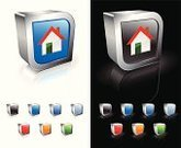 House,Roof,Residential Structure,Window,Chimney,Red,Green Color,Symbol,Computer Icon,Door,Orange Color,Blue,Sparse,Square Shape,Metal,Shiny,Reflection,Modern,template,red roof