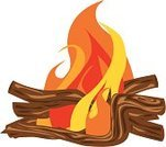 Campfire,Bonfire,Fire - Natural Phenomenon,Log,Vector,Wood - Material,Survival,Burning,Ilustration,Red,Yellow,Heat - Temperature,Orange Color,Outdoors,Isolated Objects,Nature,Illustrations And Vector Art,Isolated-Background Objects